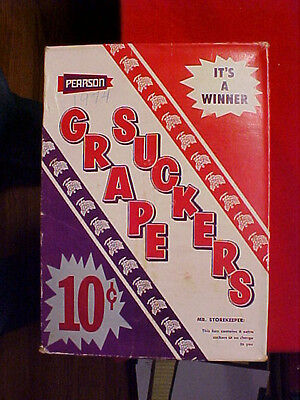 Grape Suckers 10 Cent Pearson Candy Cardboard Box Culver City California Grace