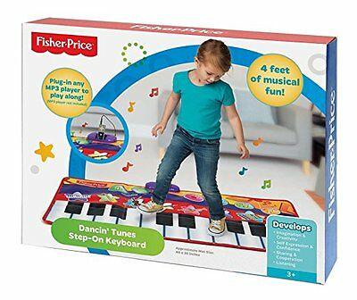 FISHER-PRICE Dancin' Tunes Step-On Keyboard NEW IN BOX Plug In Music Player 3+