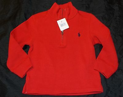 New Toddler Boy's 100% Cotton 1/4 Zip Pullover Sweater Size 2/2T