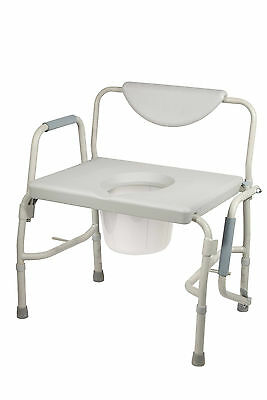 Potty Chair Wide Heavy Duty Bariatric Drop Arm Commode, 1000lb,  New!