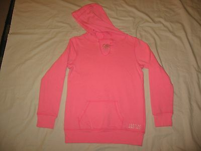 Justice Girl's Pink Pullover Hooded Sweatshirt Size 12