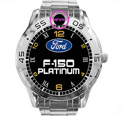 Ford F-150 Platinum Chrome Mens Watch Wristwatch Sport Watches Special Gift