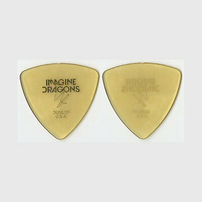 Imagine Dragons Ben McKee authentic 2013 tour custom stage gold Guitar Pick