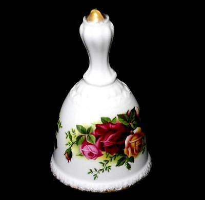 Vintage Royal Albert Old Country Roses 1973-1992 backstamp pretty dinner bell