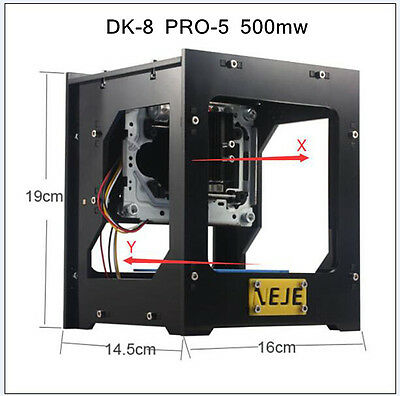 US SALE!!NEJE 500mw Black DIY Laser Engraving Machine Cutting Printer Engraver