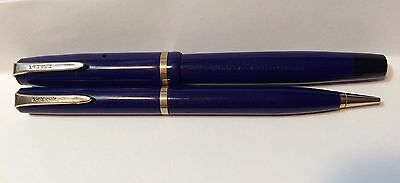 Vintage Parker Challenger Fountain Pen & Mechanical Pencil Set Made in Canada