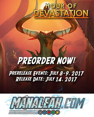 MTG Hour of Devastation Booster Box Factory Sealed Manaleak Birmingham PREORDER!