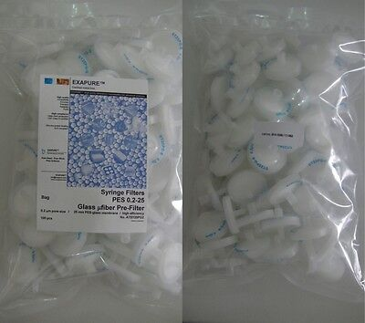 EXAPURE™PES Syringe filters 0.2-25, glass microfiber prefilter, NEW!