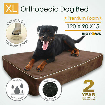 Thick Memory Foam Dog Bed Orthopedic Extra Large Pet Mat Big XL Waterproof