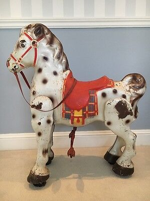 Rare And Collectable Vintage Mobo Ride On Toy Horse 1950's