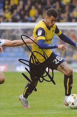 OXFORD: MARVIN JOHNSON SIGNED 6x4 ACTION PHOTO+COA