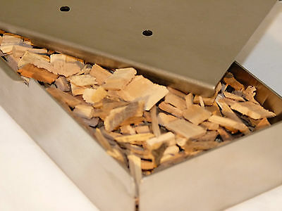 BBQ Smoker Box + 1/2kg Hickory Wood Chips - FREE DELIVERY