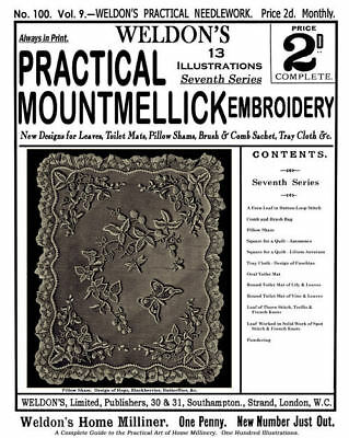 Weldon's 2D #100 c.1893 Vintage Patterns in Mountmellick Embroidery (7th Book)