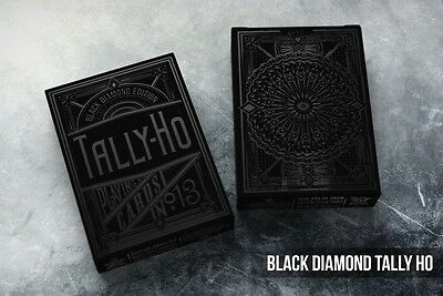 Black Diamond Tally Ho Playing Cards by Jackson Robinson - Limited, Only 1000