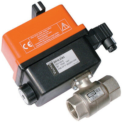 """E100H003HV, 3/8"""" BRASS ELEC ACT BALL VALVE L.P. H.V., Omal & Valpes Actuated Val"""