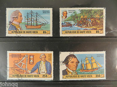 Upper Volta Stamps 474-477, Captain Cook, NH, SCV $3