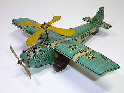 Vintage RICO (Spain) # 1930's Tin Airplane / Gyrocopter (R.S.A.33)