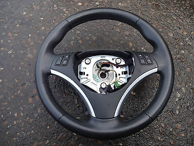 2007 (07) BMW 1 series E81 E87 leather steering wheel with controls 6769894