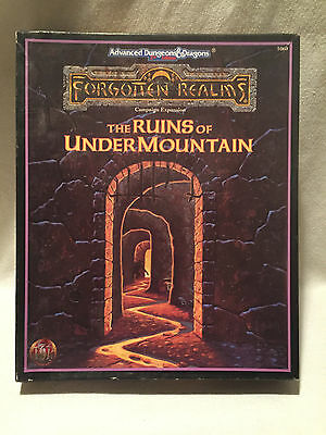 The Ruins Of Undermountain Box Set Complete Forgotten Realms 2nd AD&D TSR 1060