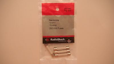 RadioShack Fast Acting Ceramic Fuse 1-1/4x1/4 Pkg of 4 15A 250V 3AB,314,ABC,ABE
