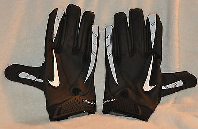 Nike Vapor Jet Synthetic Thermal NCAA PGF255 Black football gloves,Adult XXL NEW