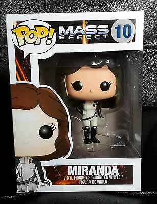 Brand New Funko Pop Vinyl Mass Effect Miranda #10 Vaulted & Rare