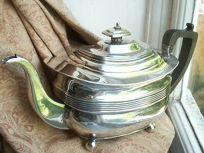 Old Antique Georgian Sterling Silver London 1816 Teapot English George III Fine