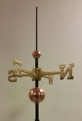 Full weathervane set-up/ 2''&4'' polished COPPER BALLS,BRASS DIRECTIONALS,rod,