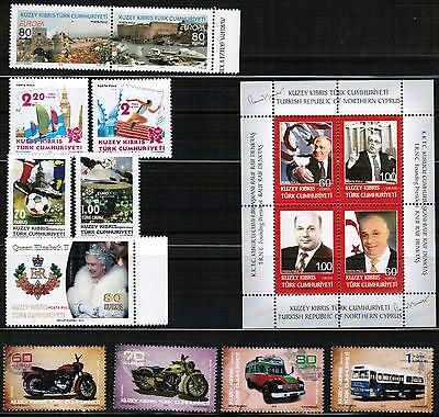 Unmounted Mint Yearly 2012 Set Turkish Cyprus