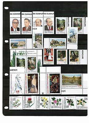 Unmounted Mint Yearly 2011 Set Turkish Cyprus