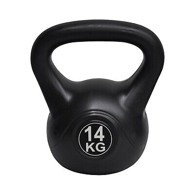 14kg Kettlebell Silver - Home Gym Kettlebell Weight Fitness Exercises Energetics