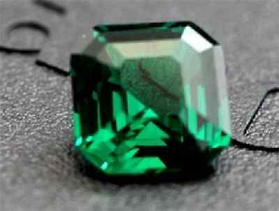 Dazzling 5.61ct Green Sapphire 10X10mm Diamond Cushion Cut VVS Loose Gemstones