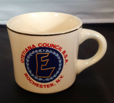 Boy Scouts BSA Coffee Tea Cup Mug Otetiana Council Rochester USA Vintage