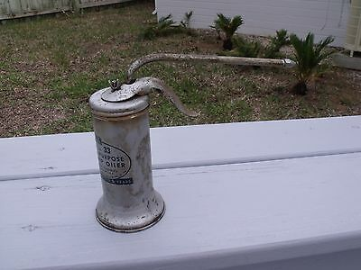 Vintage EAGLE Pump Oiler All-Purpose Oil Can No. 33 Capacity 6 oz.