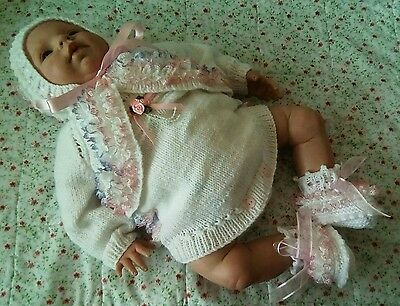Best Baby Boutique Hand Knitted Baby Girl Outfit