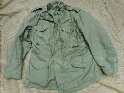 ORIGINAL US army M65 M 65 COAT FIELD jacket 1970 VIETNAM WAR OG107 L L LARGE