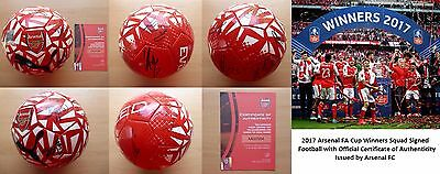 2017 Arsenal FA Cup Winners Squad Signed Football with Official COA (11122)