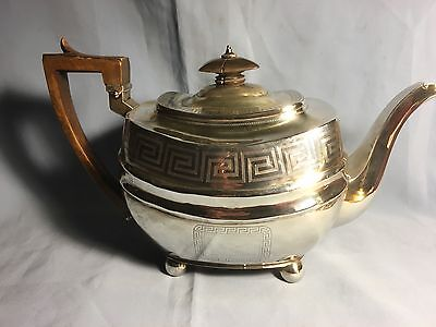 ANTIQUE ENGLISH STERLING SILVER TEAPOT LONDON 1809 by Soloman Hougham