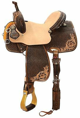 "Reinsman 14"" Team Camarillo Barrel Saddle #4234 Regular Quarter Horse Bar"