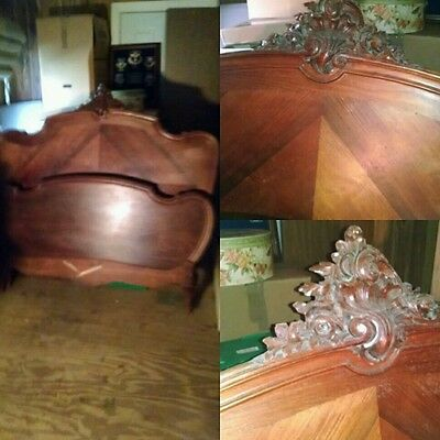 French Style Country Carved Bed little over 3/4 size can be a double