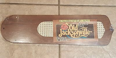 Vintage Old Jacksonville Ceiling Fan Blades Replacement Wood Grain Wicker Usa 36 35 Picclick Uk