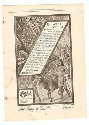 Antique Original 1899 FULL PAGE Print Ad - Burnett's Vanilla - Chapter 3