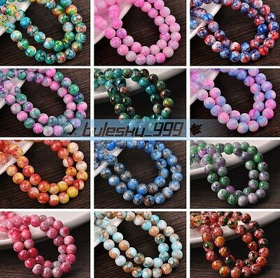 Wholesale DIY Findings Round Loose Glass Spacer Beads 6mm 8mm 10mm 12mm
