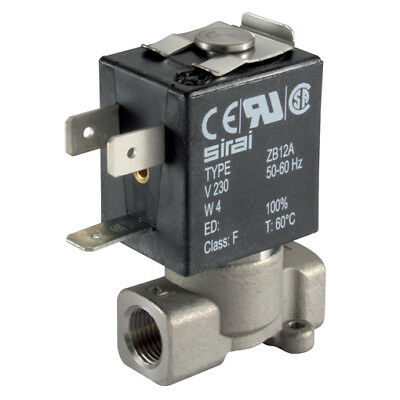 """L182V09-12-24, 1/2"""" 2/2 NC ST. ST SOL VALVE 24V DC, Actuated Ball/Gen Purpose So"""