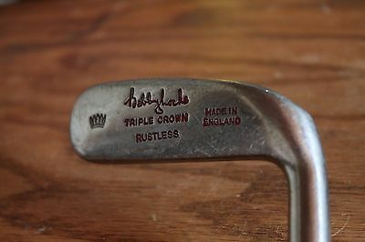 Bobby Locke Slazenger Triple Crown Rustless Blade Putter RH Rare Vintage Steel