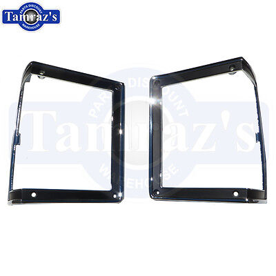 1972 Chevelle Malibu Park Lamp Light Trim Bezels Pair