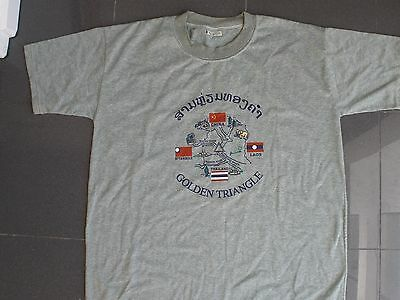 NEW! Golden Triangle-Laos, Cotton, Large, Shortsleeves T-Shirt, Shipped from USA