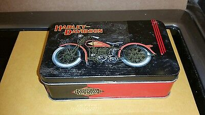 Limited edition Harley Davidson tin can for playing cards. 004620 out of 255,000