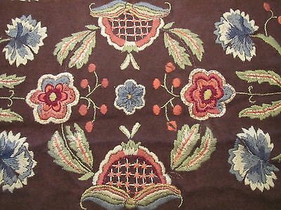 Antique Runner Embroidered Arts and Crafts Handmade Wool Table Panel Cover