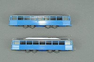 Wiking Tramway Trolley cars blue
